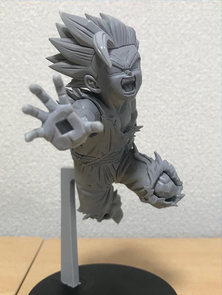 「ドラゴンボールZ G×materia THE SON GOHAN(スーパーサイヤ人2孫悟飯:少年)」彩色前の原型(一部)